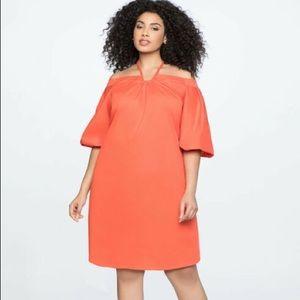 Eloquii Orange Halter Dress